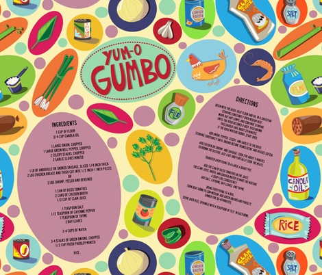 YUM-O GUMBO!! fabric by gsonge on Spoonflower - custom fabric