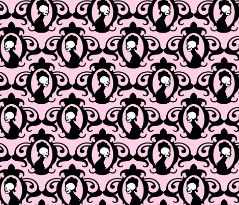 Flourish Baby Pink fabric by thirdhalfstudios on Spoonflower - custom fabric