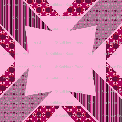 Pink star Kaleidoscope