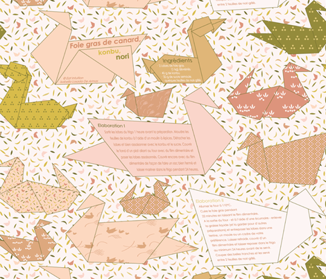 Foie Gras Recipe Pattern fabric by natasha_k_ on Spoonflower - custom fabric
