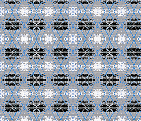 WireWall (blues) fabric by mbsmith on Spoonflower - custom fabric