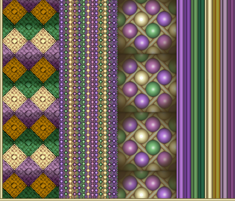 Brick Mardi Gras Coordinates fabric by pd_frasure on Spoonflower - custom fabric
