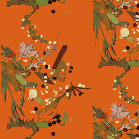 Spice Scatter fabric by boris_thumbkin on Spoonflower - custom fabric