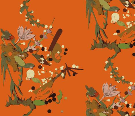 Botanical Toss fabric by boris_thumbkin on Spoonflower - custom fabric