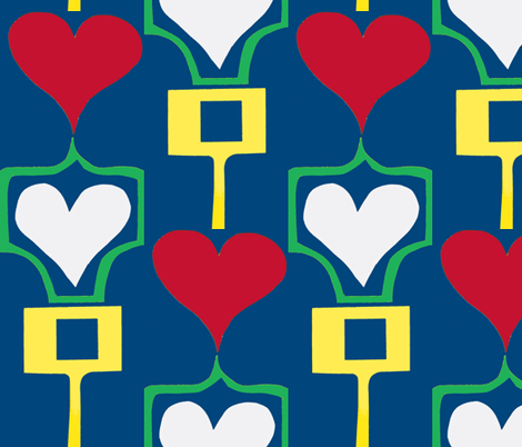Heartpost Stripes fabric by boris_thumbkin on Spoonflower - custom fabric