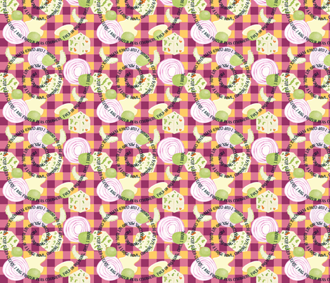 Mind your Peas and Q's fabric by demouse on Spoonflower - custom fabric