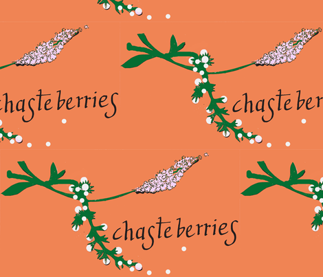 Chasteberries fabric by boris_thumbkin on Spoonflower - custom fabric