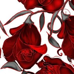 Large Red Valentine Rose
