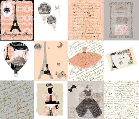 Paris Quilt fabric by karenharveycox on Spoonflower - custom fabric