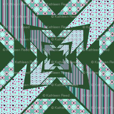 green Kaleidoscope diamonds