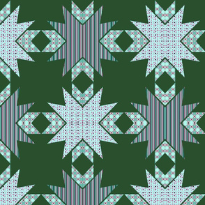 Kaleidoscope Diamonds In Greens