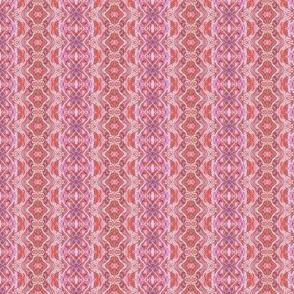 Pink Lace Scallop Vertical Stripe