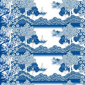 Willow-esque Trees Border Print - Horizontal