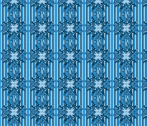 blue star Kaleidoscope fabric by dogdaze_ on Spoonflower - custom fabric