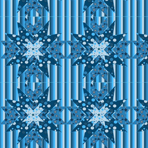 blue star Kaleidoscope