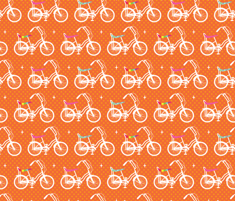 Banana Bikes! fabric by cynthiafrenette on Spoonflower - custom fabric