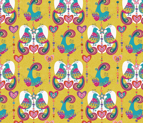 Littlest Birds- resize fabric by cynthiafrenette on Spoonflower - custom fabric