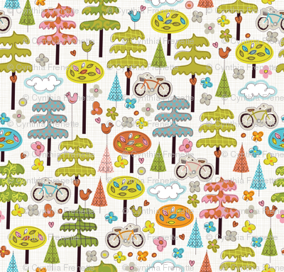 It's a Handmade World: Ride a Bike, Hug a Tree