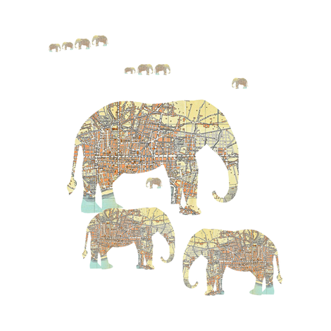 Follow The Elephant fabric by karenharveycox on Spoonflower - custom fabric