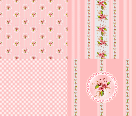 Parson's Pink Rose fabric by joanmclemore on Spoonflower - custom fabric