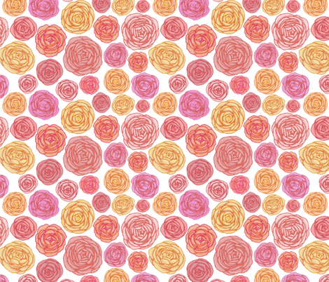 Ranunculus fabric by mrshervi on Spoonflower - custom fabric
