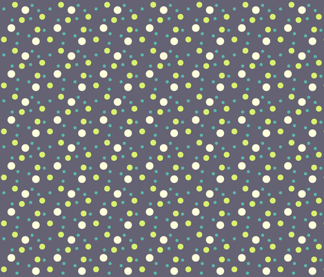 eggplant, cream dot fabric by demouse on Spoonflower - custom fabric