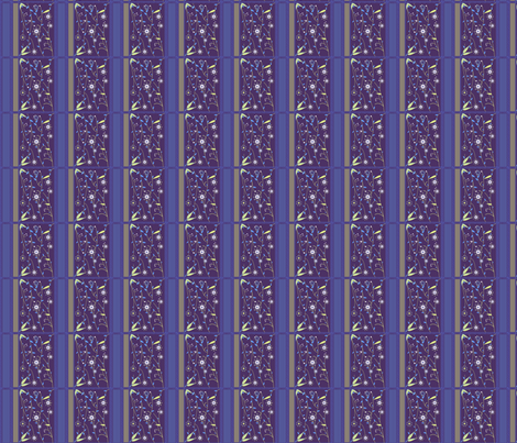 Sapphire Flower Quilt fabric by eppiepeppercorn on Spoonflower - custom fabric