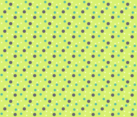 Kiwi eggplant dot fabric by demouse on Spoonflower - custom fabric