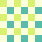 Cream teal check