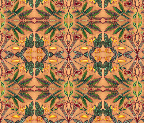 Jack-in-the-Pulpit & Friends/Original Colorway fabric by sue-land on Spoonflower - custom fabric