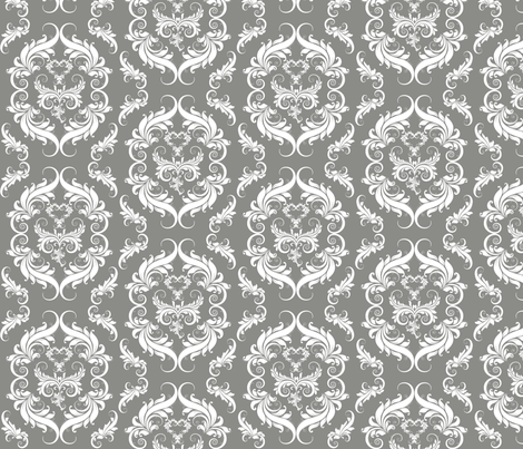 Flourishing Damask fabric by cksstudio80 on Spoonflower - custom fabric
