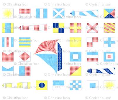Nautical Quilt fabric