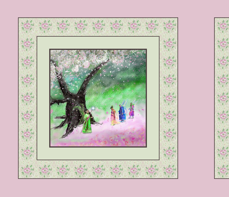 Fairy Cherry Tree Blossom, Pillow Design