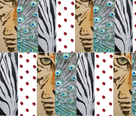 animal magic fabric by podaiboo on Spoonflower - custom fabric