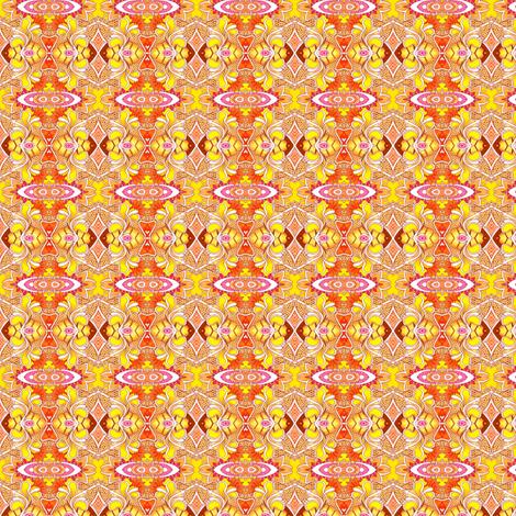 Dayglo UFO's Buzz the Beach fabric by edsel2084 on Spoonflower - custom fabric