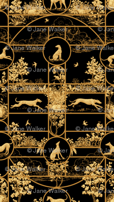 Autumn Greyhounds Black ©2011 by Jane Walker