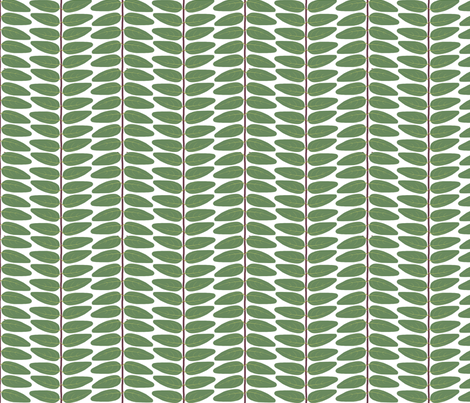 Hypericum Hidcote leaf stripe - tight - white (Coordinate for Buttercups on a bush) fabric by victorialasher on Spoonflower - custom fabric