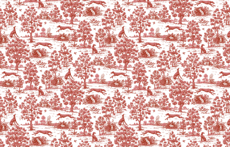 Burgundy Greyhound Toile ©2011 by Jane Walker fabric by artbyjanewalker on Spoonflower - custom fabric
