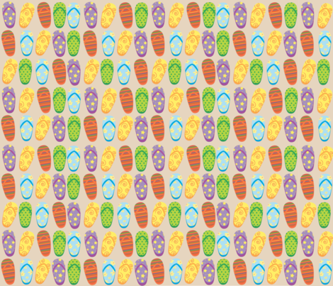 Flipflops Allover fabric by the_pink_net on Spoonflower - custom fabric