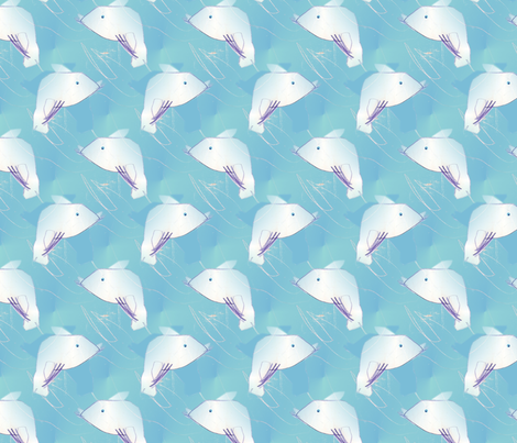 Elli 3years dolphin, seal skipping in the sea fabric by vinkeli on Spoonflower - custom fabric