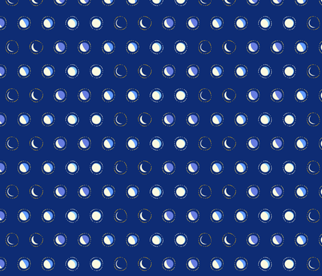 moon phase spots fabric by coggon_(roz_robinson) on Spoonflower - custom fabric