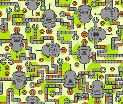 Robots on Leaf Green