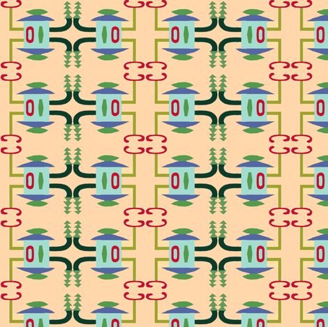 Lantern Poles-ed-ed fabric by boris_thumbkin on Spoonflower - custom fabric