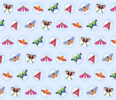 moon moths fabric by coggon_(roz_robinson) on Spoonflower - custom fabric