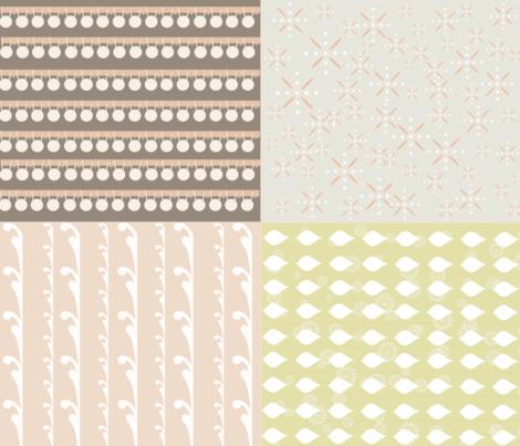 Pom Pom Trim and Coordinates - Light fabric by owlandchickadee on Spoonflower - custom fabric