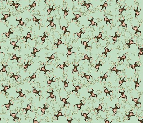Monkey Business fabric by jabiroo on Spoonflower - custom fabric