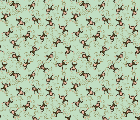 Monkey Business fabric by jabiroo on Spoonflower - custom fabric