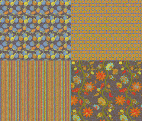 palampore fabric by lfntextiles on Spoonflower - custom fabric