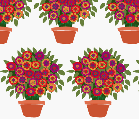flowerpot fabric by lfntextiles on Spoonflower - custom fabric