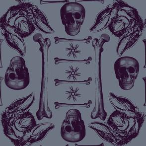 bats,bones and skulls.
